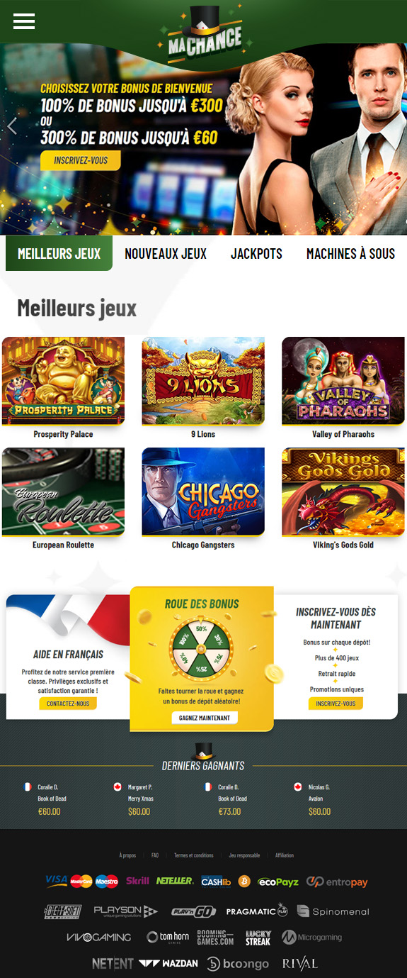 Casino MaChance avis positif